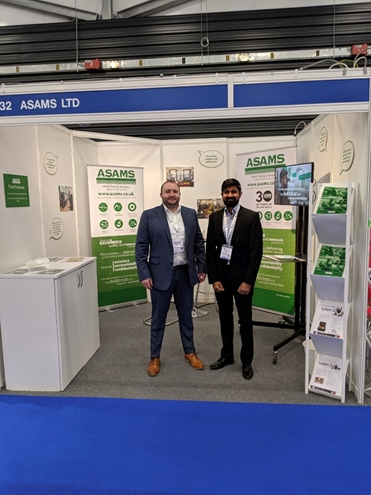 Thomas Whiskin (left) with Rahul Wadher (right) at the company stand during the show